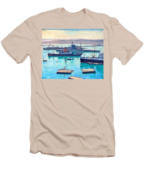 Albert In The Window Men's T-Shirt (Slim Fit) by Ira Shander