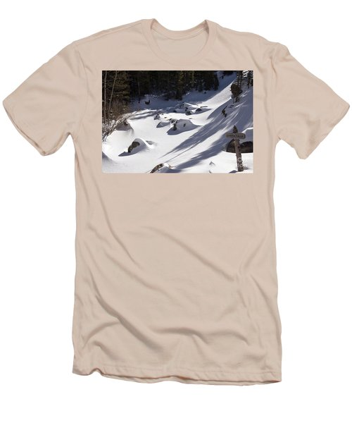 Alberta Falls In Estes Park Colorado Men's T-Shirt (Slim Fit)