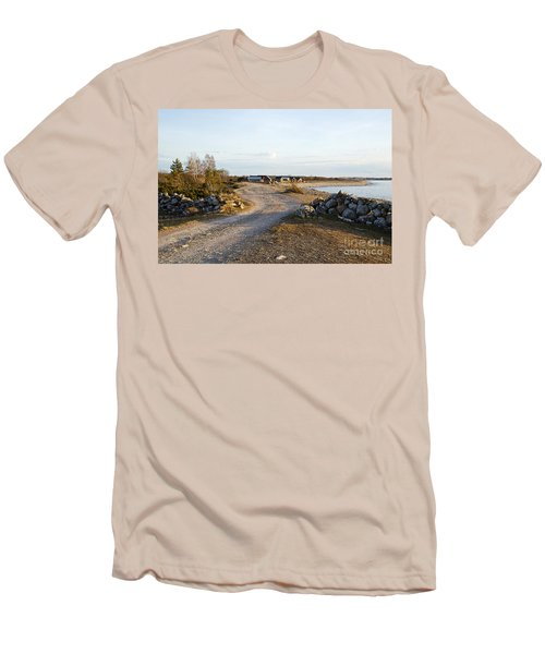 Along The Coast Men's T-Shirt (Slim Fit) by Kennerth and Birgitta Kullman