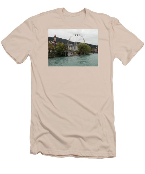 Along The River In Thun Men's T-Shirt (Athletic Fit)