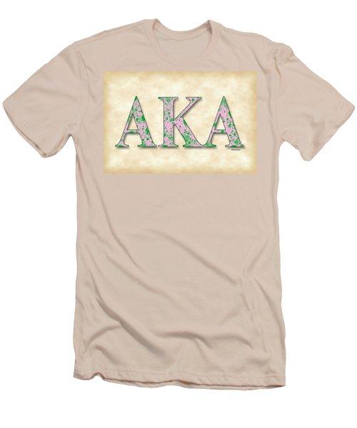 Alpha Kappa Alpha - Parchment Men's T-Shirt (Slim Fit) by Stephen Younts