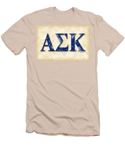 Alpha Sigma Kappa - Parchment Men's T-Shirt (Athletic Fit)