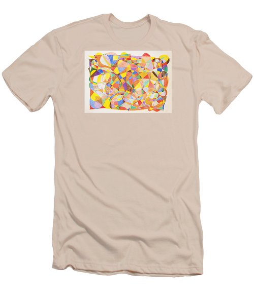 Men's T-Shirt (Slim Fit) featuring the painting Alternate Realities by Stormm Bradshaw