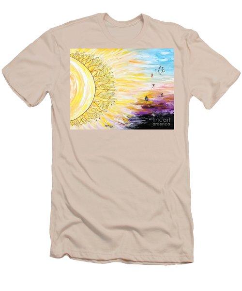 Anche Per Te Sorgera' Il Sole Men's T-Shirt (Slim Fit) by Loredana Messina