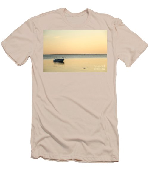 Men's T-Shirt (Slim Fit) featuring the photograph Anchored  by Kennerth and Birgitta Kullman