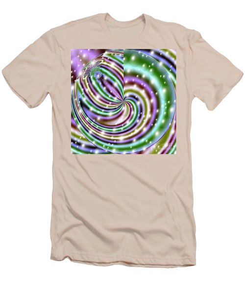Men's T-Shirt (Slim Fit) featuring the digital art And He Called Them Stars by Luther Fine Art