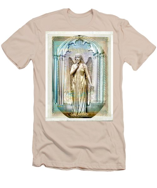 Angel Of Silence.genoa Men's T-Shirt (Slim Fit) by Jennie Breeze