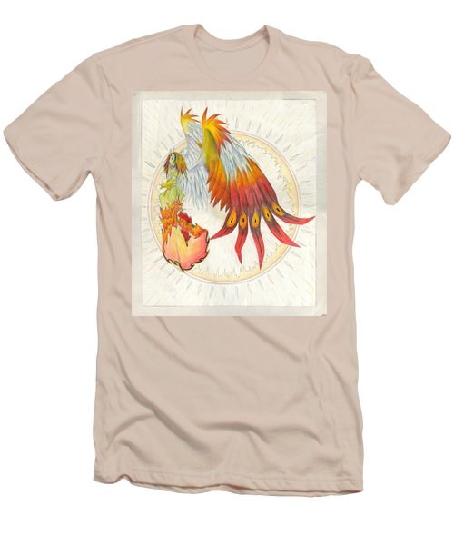 Men's T-Shirt (Slim Fit) featuring the painting Angel Phoenix by Shawn Dall