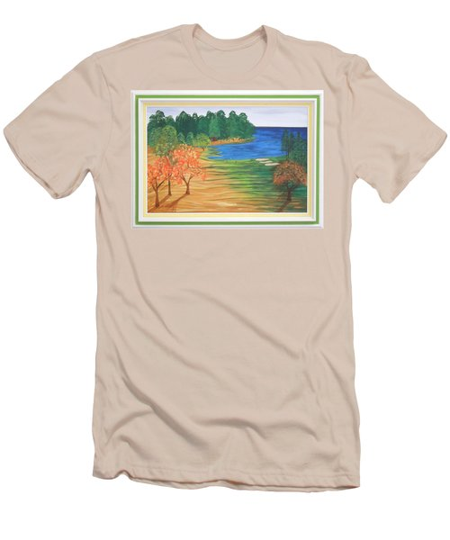 Another Sunday Morning Men's T-Shirt (Slim Fit) by Ron Davidson