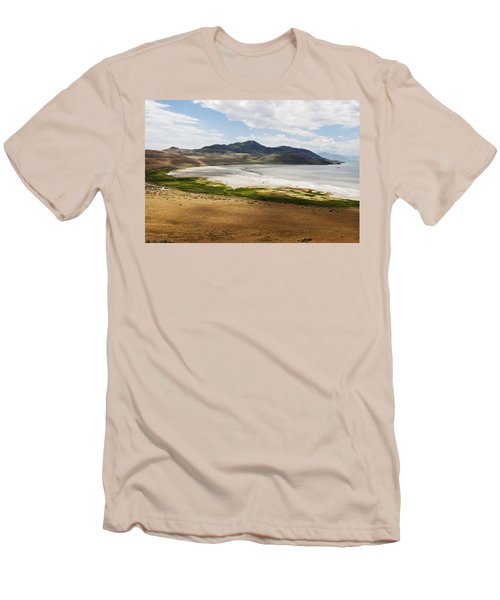 Men's T-Shirt (Slim Fit) featuring the photograph Antelope Island by Belinda Greb