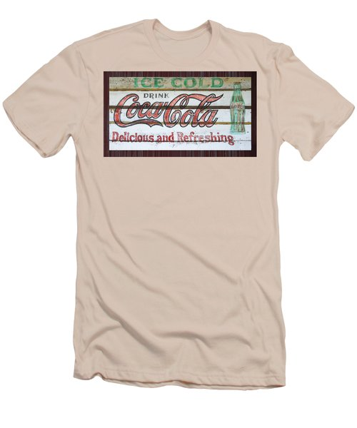 Antique Coca Cola Sign  Men's T-Shirt (Slim Fit) by Chris Flees