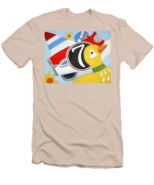 Men's T-Shirt (Slim Fit) featuring the painting Antique Toys by Stacy C Bottoms
