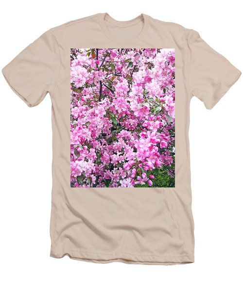Apple Blossoms Men's T-Shirt (Slim Fit) by Aimee L Maher Photography and Art Visit ALMGallerydotcom