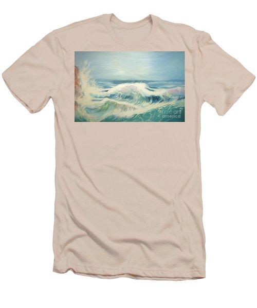 Aqua Sea Scape Men's T-Shirt (Slim Fit)