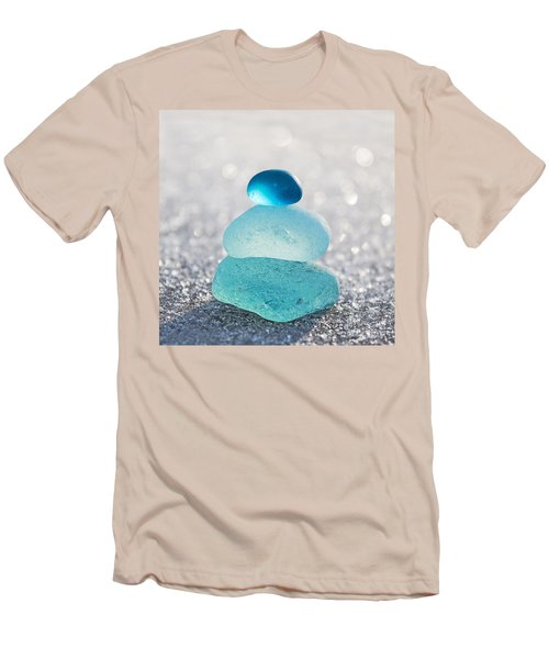 Aquamarine Ice Light Men's T-Shirt (Athletic Fit)