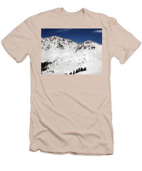 Arapahoe Basin Ski Resort - Colorado          Men's T-Shirt (Slim Fit) by Fiona Kennard
