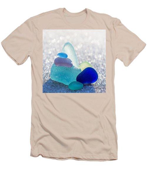 Arctic Peaks Men's T-Shirt (Slim Fit) by Barbara McMahon