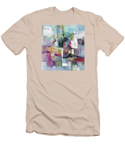Men's T-Shirt (Slim Fit) featuring the painting Art And Music by Michelle Abrams