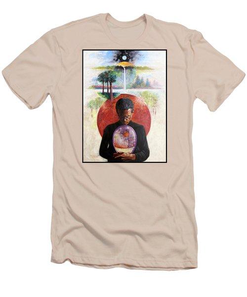 Arthur Ashe Men's T-Shirt (Slim Fit) by John Lautermilch