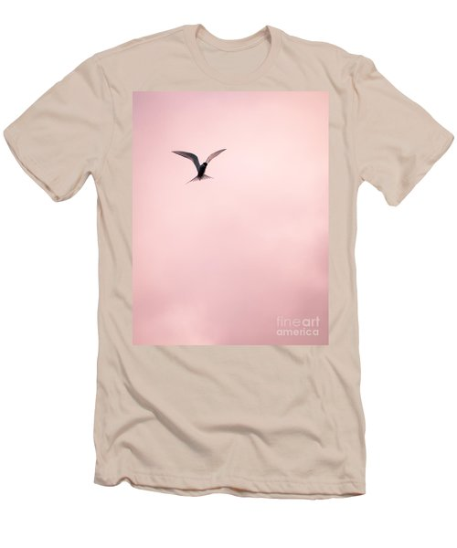 Men's T-Shirt (Slim Fit) featuring the photograph Artic Tern High In The Sky by Peta Thames
