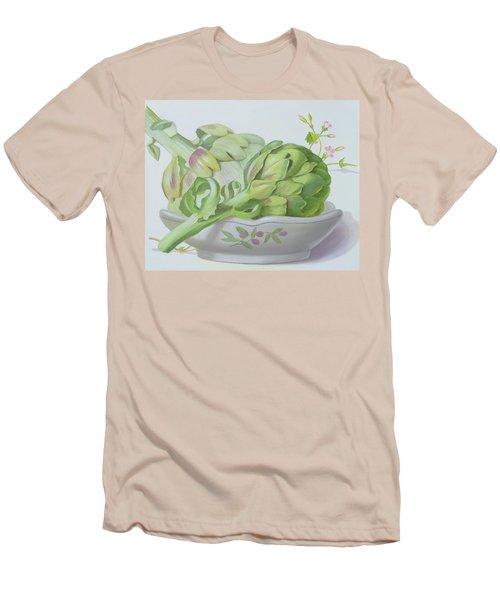 Artichokes Men's T-Shirt (Slim Fit) by Lizzie Riches