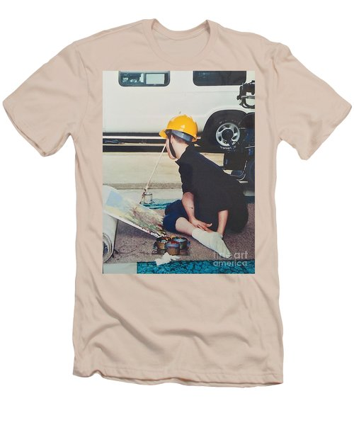 Men's T-Shirt (Slim Fit) featuring the painting Artist At 16 Yrs Old by Donald J Ryker III