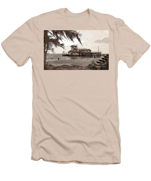 Men's T-Shirt (Slim Fit) featuring the photograph Tugboat From Louisiana Katrina by Luana K Perez