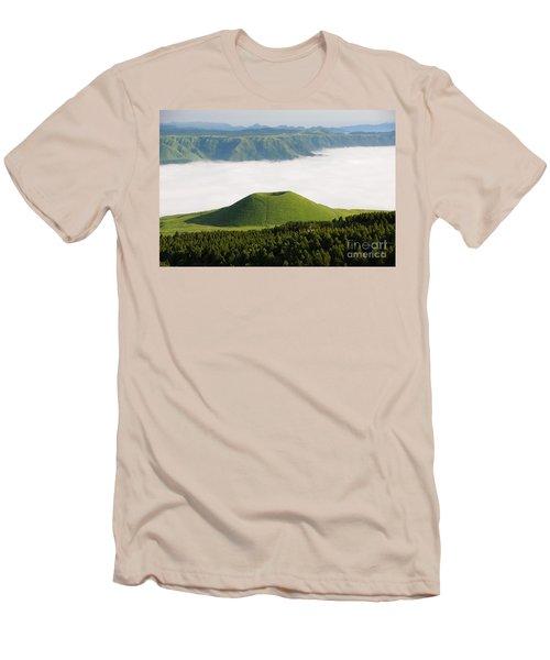 Men's T-Shirt (Slim Fit) featuring the photograph Aso Komezuka Sea Of Clouds Cloud Kumamoto Japan by Paul Fearn