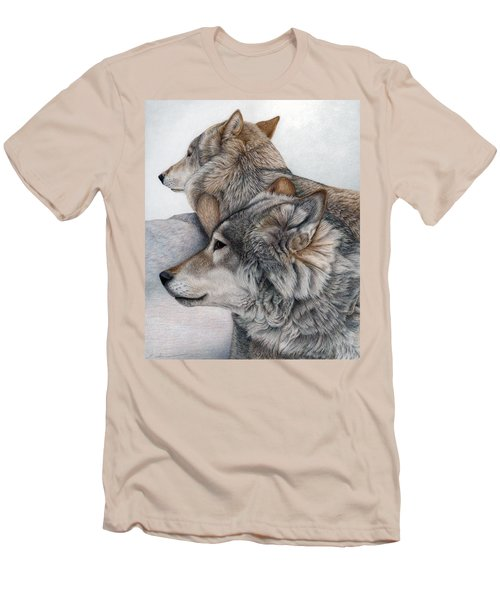 Men's T-Shirt (Slim Fit) featuring the painting At Rest But Ever Vigilant by Pat Erickson