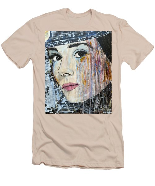 Audrey Hepburn-abstract Men's T-Shirt (Athletic Fit)