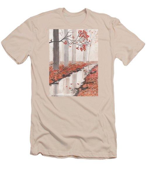 Autumn Leaves Men's T-Shirt (Slim Fit) by David Jackson