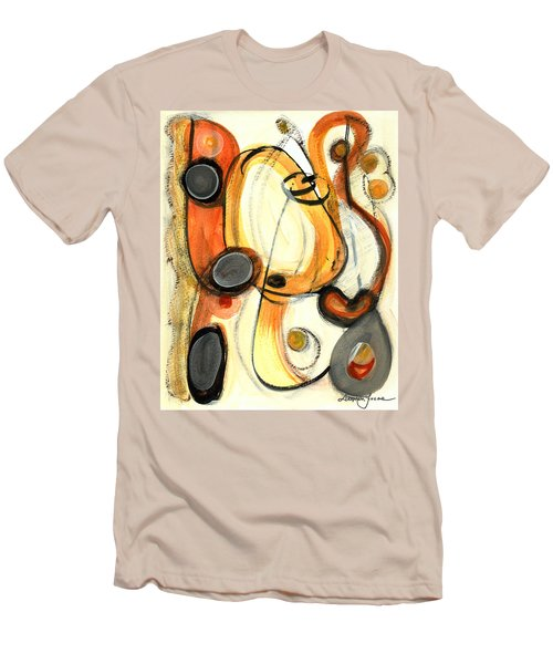 Men's T-Shirt (Slim Fit) featuring the painting Autumn Winds by Stephen Lucas