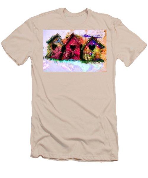Baby Birdhouses Men's T-Shirt (Athletic Fit)