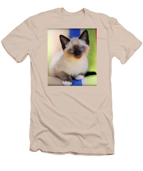 Men's T-Shirt (Slim Fit) featuring the photograph Baby Blues by Melanie Lankford Photography