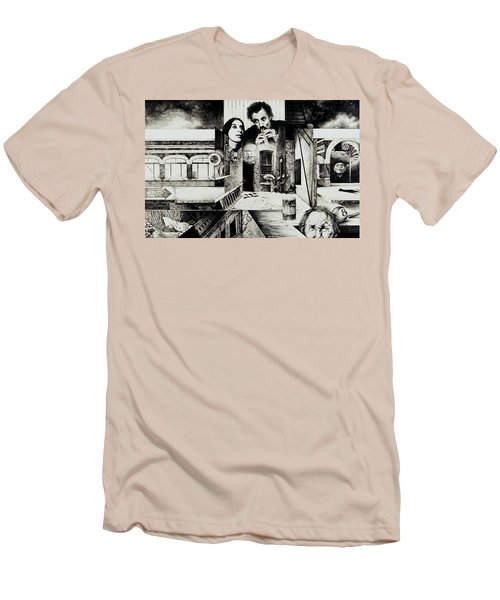 Men's T-Shirt (Slim Fit) featuring the drawing Backlane Serenade by Otto Rapp