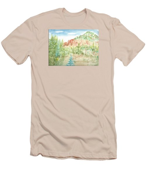 Backyard Sedona Men's T-Shirt (Athletic Fit)