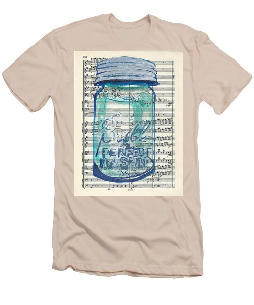 Men's T-Shirt (Slim Fit) featuring the painting Ball Jar Classical  #132 by Ecinja Art Works