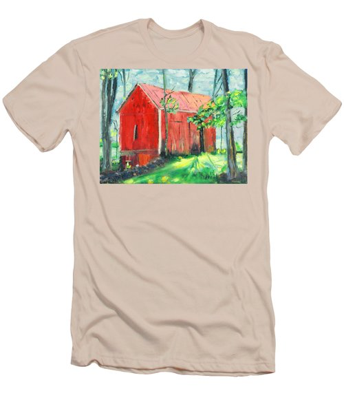 Barn At Walpack Men's T-Shirt (Athletic Fit)