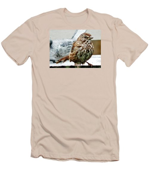 Men's T-Shirt (Slim Fit) featuring the photograph Bathe Then Fluff by VLee Watson