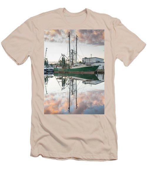 Bayou La Batre' Al Shrimp Boat Reflections 42 Men's T-Shirt (Athletic Fit)