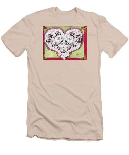 Be My Valentine Men's T-Shirt (Slim Fit) by AFineLyne