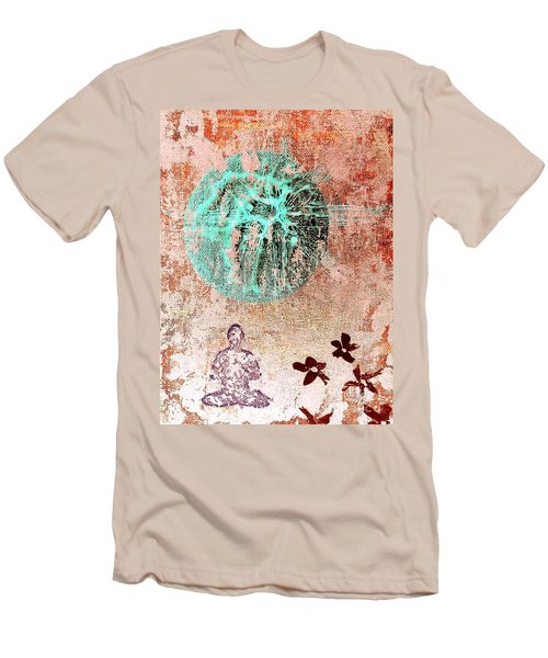 Men's T-Shirt (Slim Fit) featuring the painting Be The Buddha by Jacqueline McReynolds