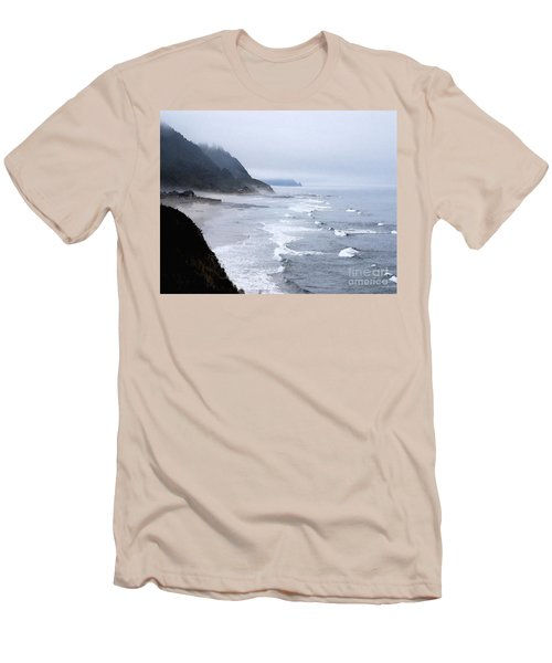 Beach Frontage In Monet Men's T-Shirt (Athletic Fit)