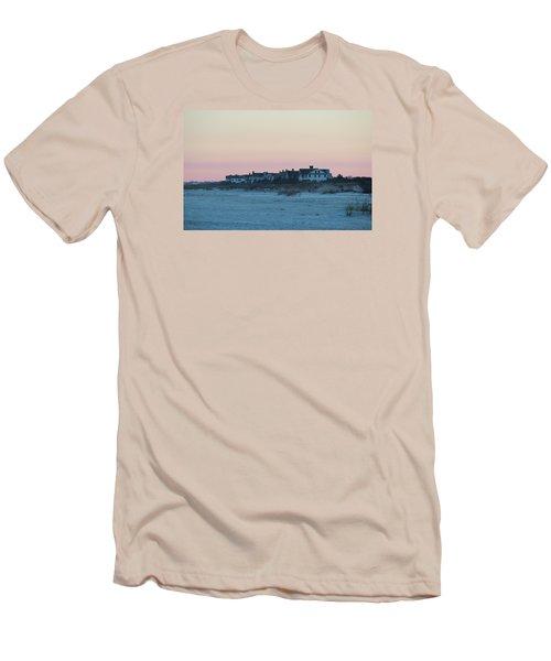 Beach Houses Men's T-Shirt (Slim Fit) by Cynthia Guinn