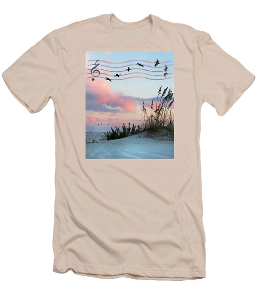 Men's T-Shirt (Slim Fit) featuring the photograph Beach Music by Deborah Smith