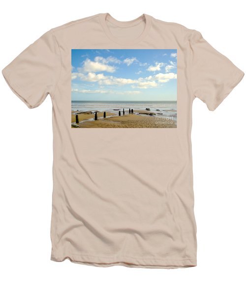 Men's T-Shirt (Slim Fit) featuring the photograph Beach Skies by Suzanne Oesterling