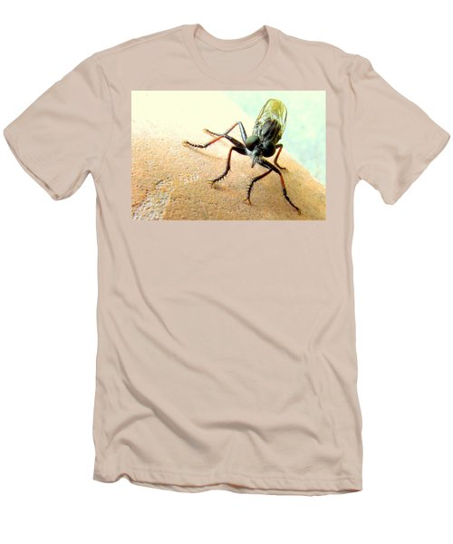 Bearded Robber Fly Men's T-Shirt (Athletic Fit)