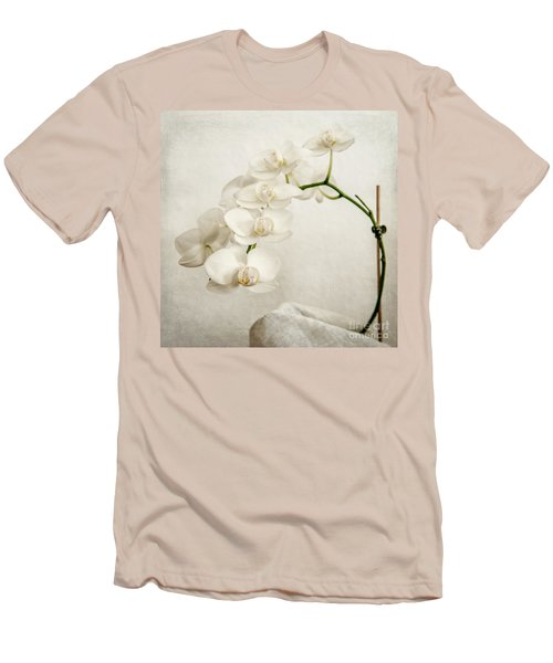Beautiful White Orchid II Men's T-Shirt (Athletic Fit)