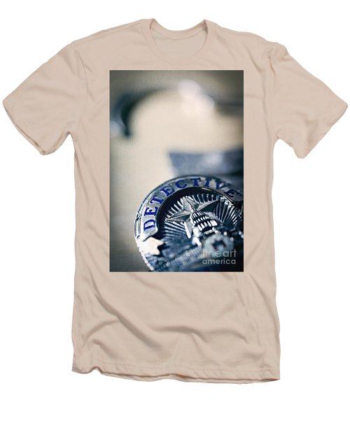 Men's T-Shirt (Slim Fit) featuring the photograph Behind The Badge by Trish Mistric