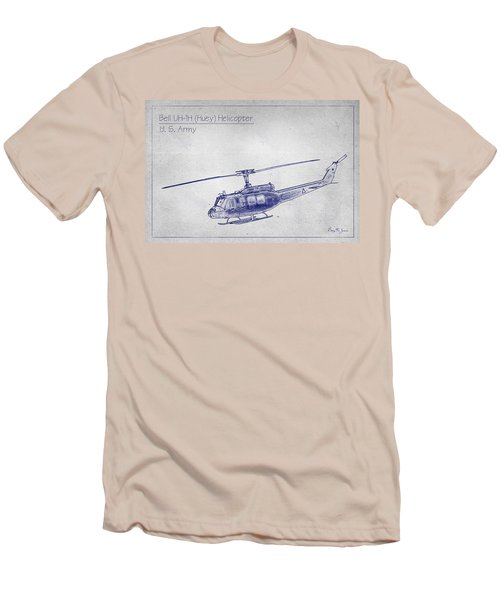 Bell Uh-1h Huey Helicopter  Men's T-Shirt (Athletic Fit)